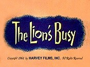 The Lion's Busy Cartoon Picture