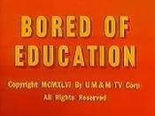 Bored Of Education Cartoon Picture