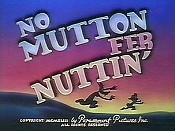 No Mutton Fer Nuttin' Cartoon Character Picture
