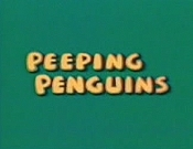 Peeping Penguins Cartoon Picture