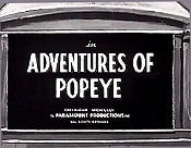 Adventures Of Popeye Video