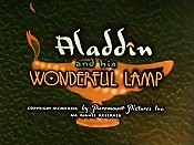 Aladdin And His Wonderful Lamp Cartoon Picture