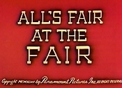 All's Fair At The Fair Cartoon Picture