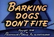 Barking Dogs Don't Fite Cartoon Picture