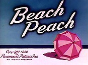 Beach Peach Free Cartoon Picture