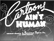 Cartoons Ain't Human Picture Of Cartoon