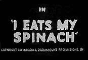 I Eats My Spinach The Cartoon Pictures