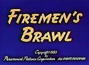 Firemen's Brawl Pictures In Cartoon