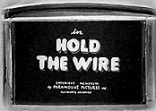 Hold The Wire Cartoon Picture