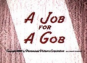 A Job For A Gob Cartoon Character Picture