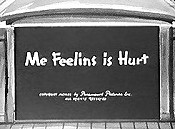 Me Feelins is Hurt Cartoon Character Picture