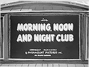 Morning, Noon And Night Club Cartoon Picture