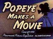 Popeye Makes A Movie Picture Of The Cartoon