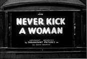 Never Kick A Woman Cartoon Picture