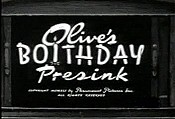 Olive's Boithday Presink Cartoon Picture