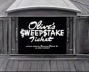 Olive's $weep$take Ticket Cartoon Picture