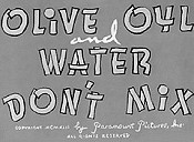 Olive Oyl And Water Don't Mix Cartoon Picture