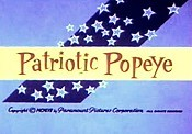 Patriotic Popeye Free Cartoon Picture
