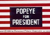 Popeye For President Free Cartoon Picture