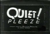 Quiet! Pleeze Cartoon Picture