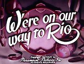 We're On Our Way To Rio Cartoon Character Picture
