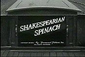 Shakespearian Spinach Cartoon Picture