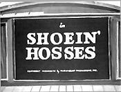Shoein' Hosses Picture To Cartoon