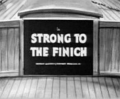 Strong To The Finich Cartoon Picture