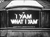 I Yam What I Yam Cartoon Picture