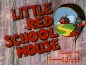 Little Red School Mouse Cartoon Picture