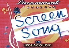 Screen Songs Theatrical Cartoon Series Logo