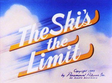 The Ski's The Limit Cartoon Picture