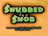 Snubbed By A Snob Pictures Cartoons