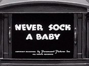 Never Sock A Baby Cartoon Picture