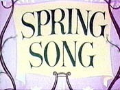 Spring Song Cartoon Picture