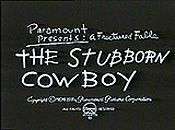 The Stubborn Cowboy Cartoon Character Picture