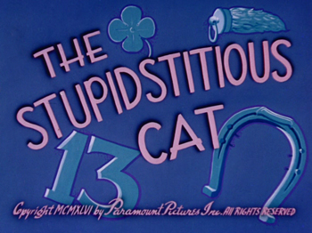 The Stupidstitious Cat Cartoon Picture