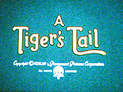 A Tiger's Tail Picture Of Cartoon