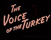 The Voice Of The Turkey Cartoon Picture