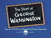The Story Of George Washington Cartoon Picture