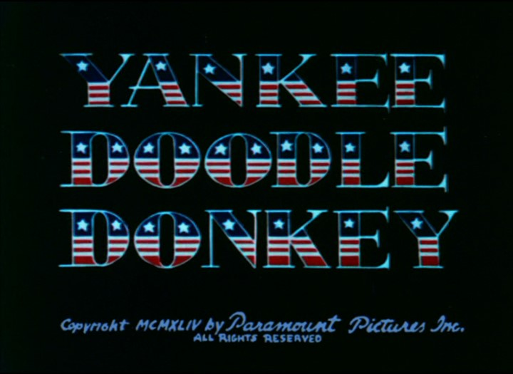 Yankee Doodle Donkey Cartoon Picture