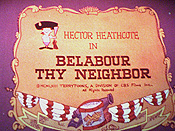 Belabour Thy Neighbor Cartoon Picture
