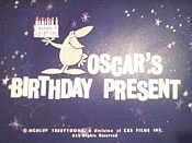 Oscar's Birthday Present Free Cartoon Picture