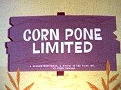 Corn Pone Limited Cartoon Picture