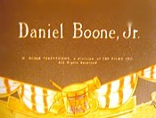 Daniel Boone, Jr. The Cartoon Pictures