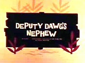 Deputy Dawg's Nephew Free Cartoon Pictures