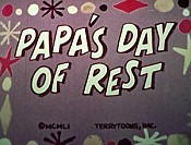Papa's Day Of Rest Cartoon Picture