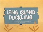 Long Island Duckling Cartoon Picture