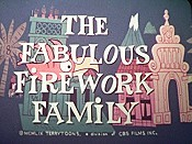 The Fabulous Firework Family Picture Into Cartoon