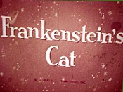Frankenstein's Cat Pictures In Cartoon